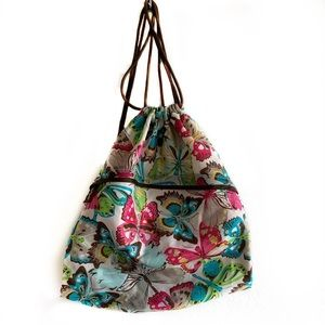 Thirty One butterfly drawstring bag